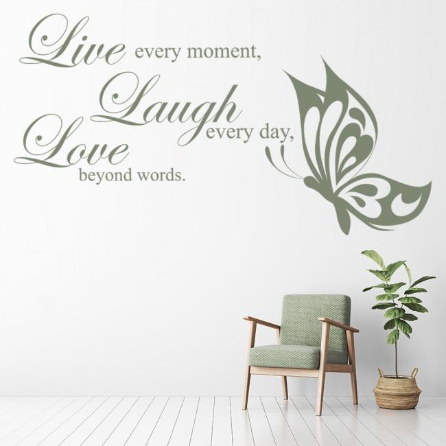 Live Laugh Love Wall Sticker Love Wall Art