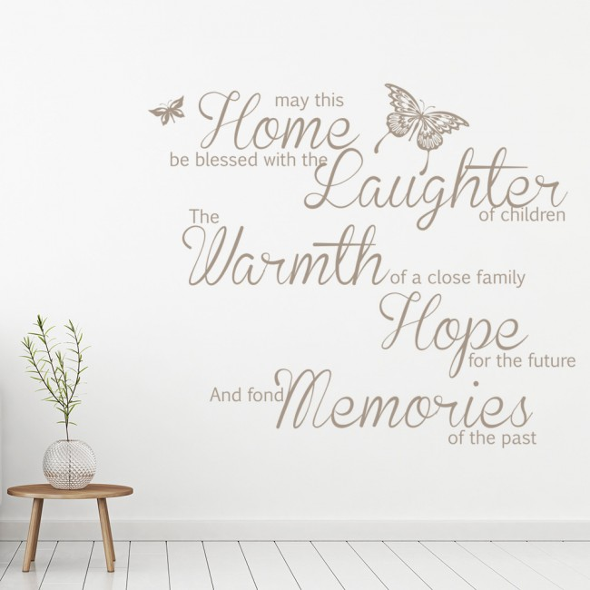 May This Home Be Blessed Wall Art Quote Wall Sticker