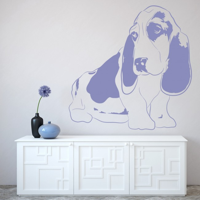 Basset Hound Dog Wall Sticker Puppy Dog Animal Wall Decal Kids Canine Home  Decor