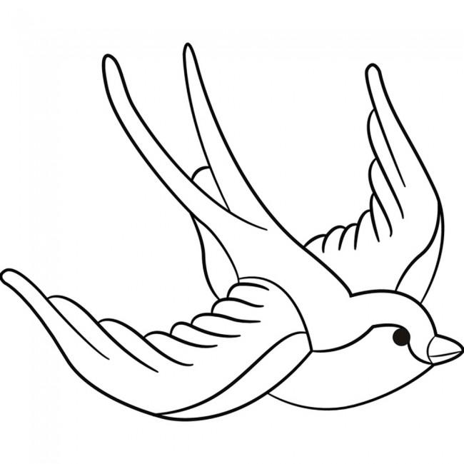 Flying Swallow Wall Art Bird Wall Sticker