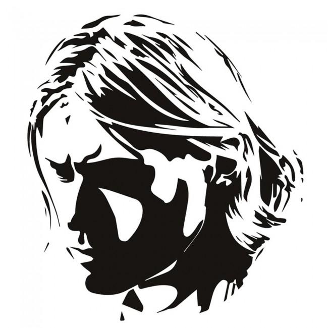 kurt cobain wall sticker rock music nirvana wall decal