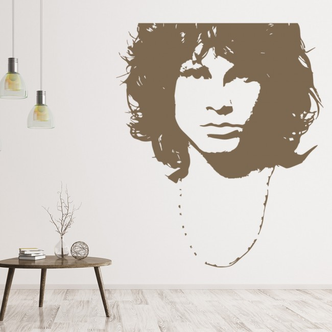 Jim Morrison Wall Sticker Music The Doors Wall Decal Icon Celebrity ...