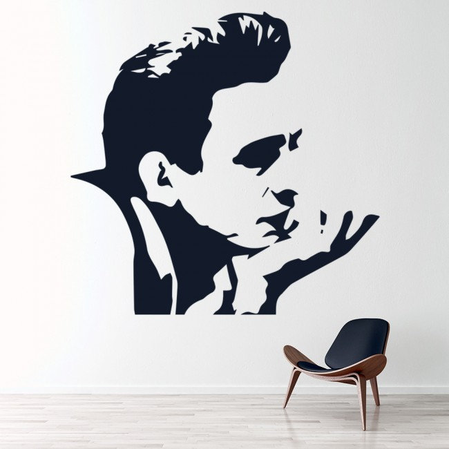 Johnny Cash Wall Sticker Singer Song Writer Wall Decal Icon ...