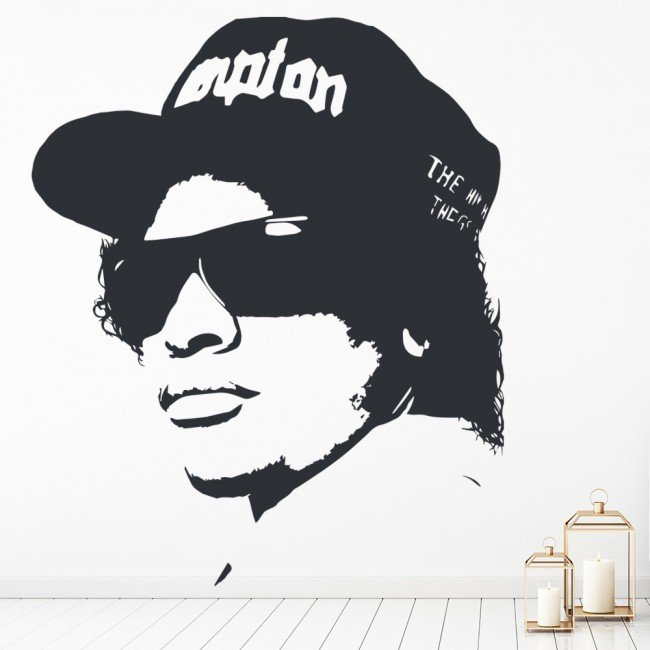 Music Classroom Decorations ~ Easy e rapper nwa rap music wall sticker