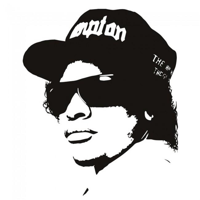 Used Cars Nwa >> Easy E Rapper Wall Sticker NWA Rap Music Wall Decal Icon ...