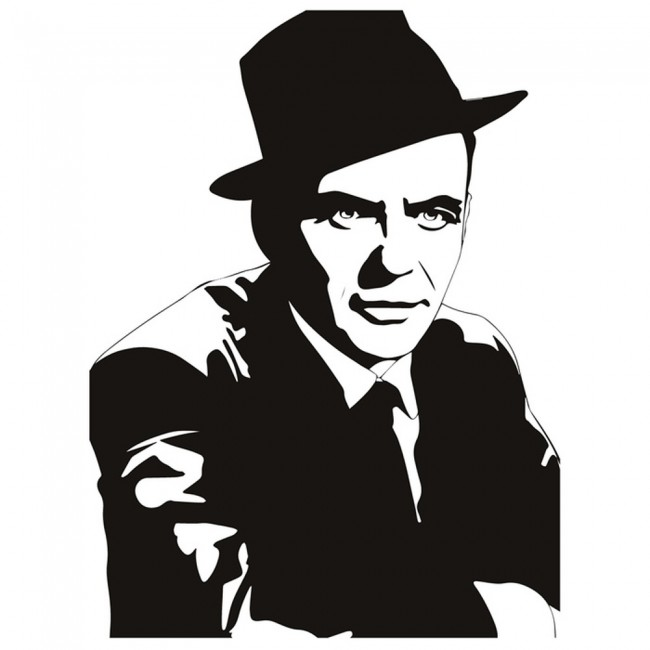 Frank Sinatra Wall Sticker Singer Actor Wall Decal Famous Celebrity Home Decor