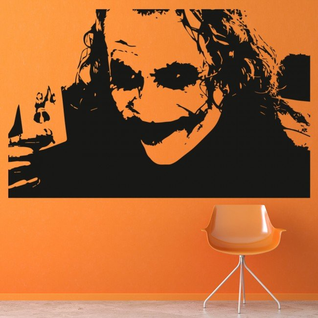 Joker Heath Ledger Wall Art Iconic Wall Stickers