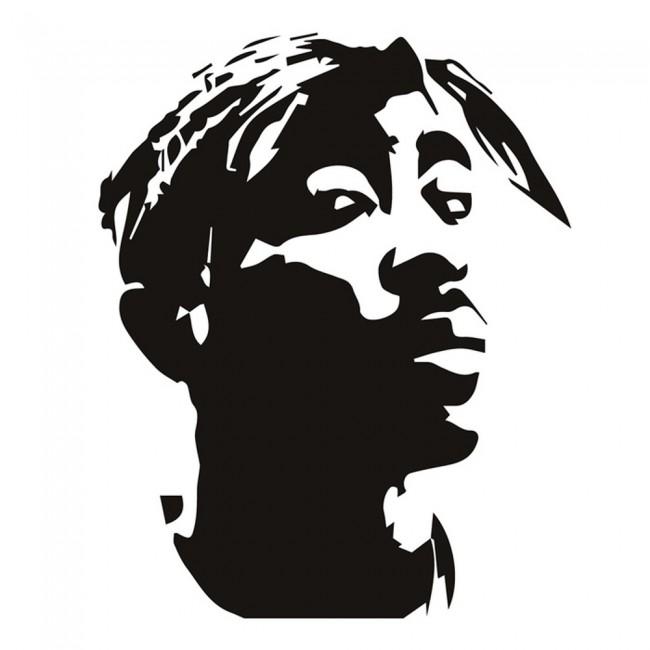 2Pac Rapper Wall Sticker Tupac Shakur Music Wall Decal ...