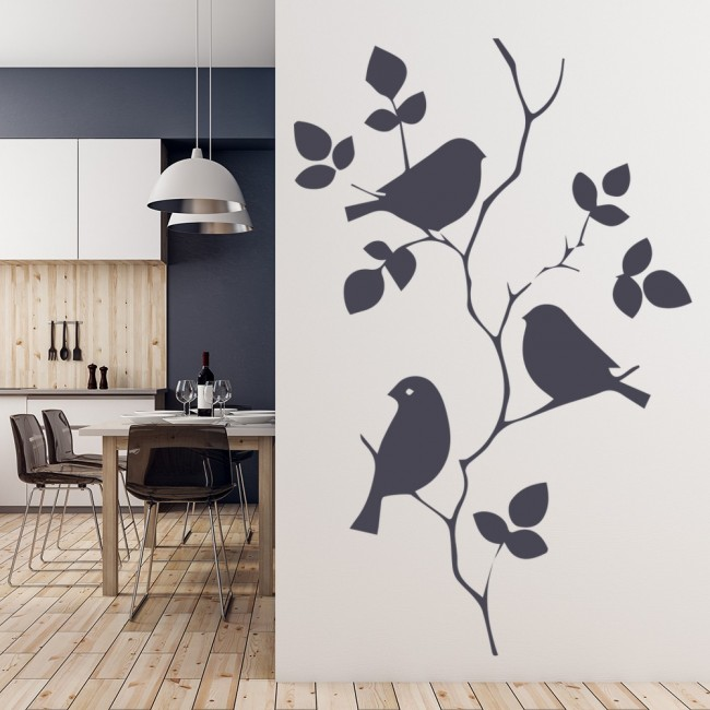 e2a398cc655 Bird Branch Wall Sticker Animals   Trees Wall Decal Bedroom Kids Living  Decor