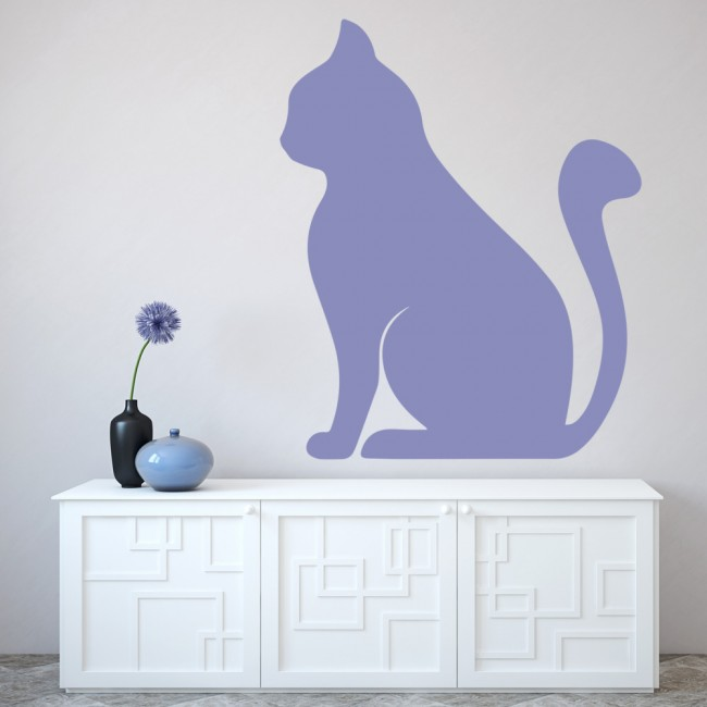 Wonderful Simple Cat Wall Sticker Animals Pets Wall Decal Kitchen Kids Home Decor