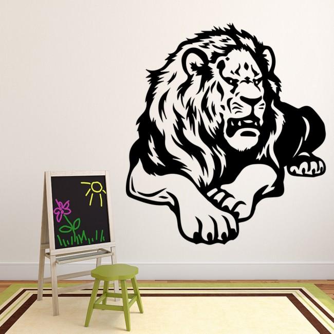 lion profile wall stickers animal wall art