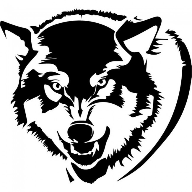 Growling Wolf Wall Sticker Animal Wall Art