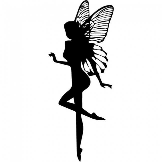 Fairy Silhouette Wall Sticker Fantasy Wall Art