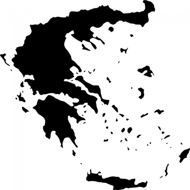 Greece Map Wall Sticker