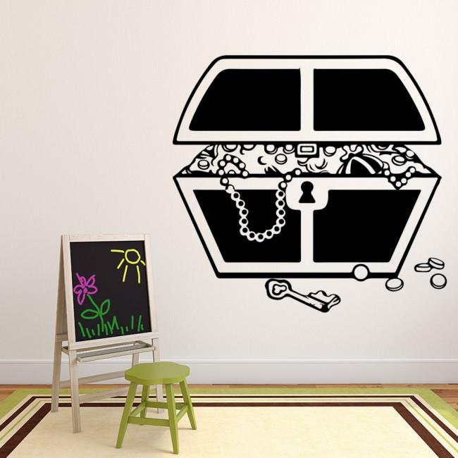Pirates Kids Wall Decal: Treasure Chest Wall Sticker Pirate Wall Art