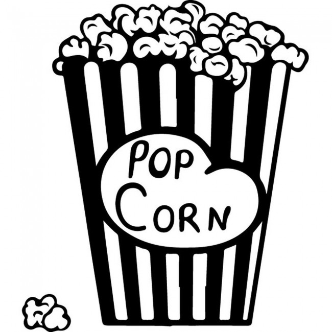 Popcorn Wall Sticker Decorative Wall Art