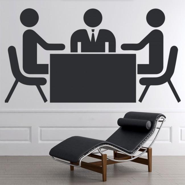 Stickman Business Meeting Wall Sticker fice Wall Art