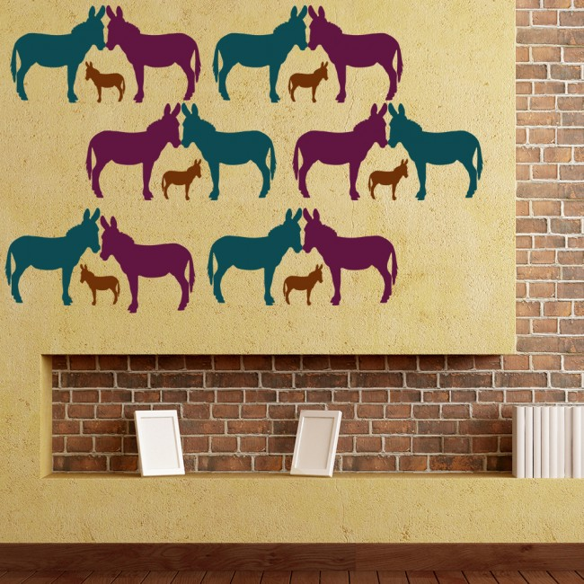 Donkey Silhouette Wall Sticker Creative Multi Pack Wall Decal Art