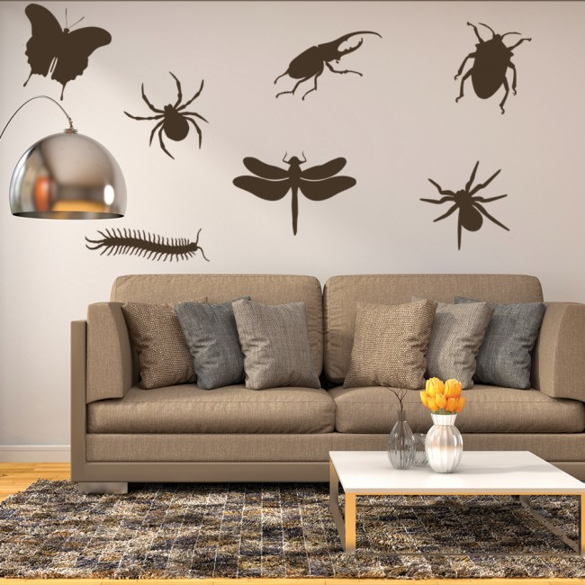 Insect Group Wall Stickers Creative Multi Pack Wall Decal Art