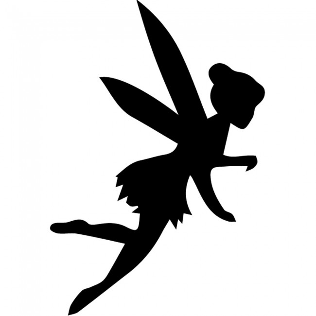 fairy silhouette wall sticker creative multi pack wall. Black Bedroom Furniture Sets. Home Design Ideas