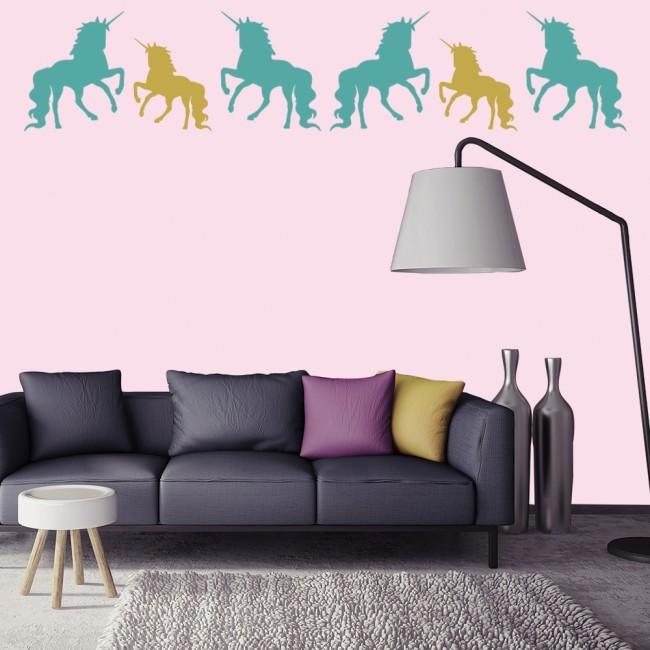 unicorn fairytale wall sticker pack