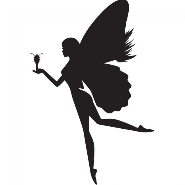 Flower Style Fairy Silhouette Wall Sticker Creative Multi