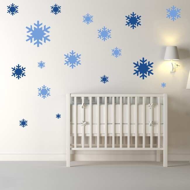 Christmas Snowflake Wall Sticker Pack Festive Wall Decal Kids Shop Home  Decor
