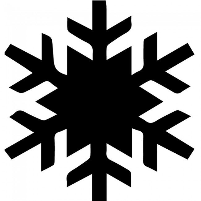 Simple Snowflake Silhouette Wall Sicker Creative Multi Pack Wall Decal Art