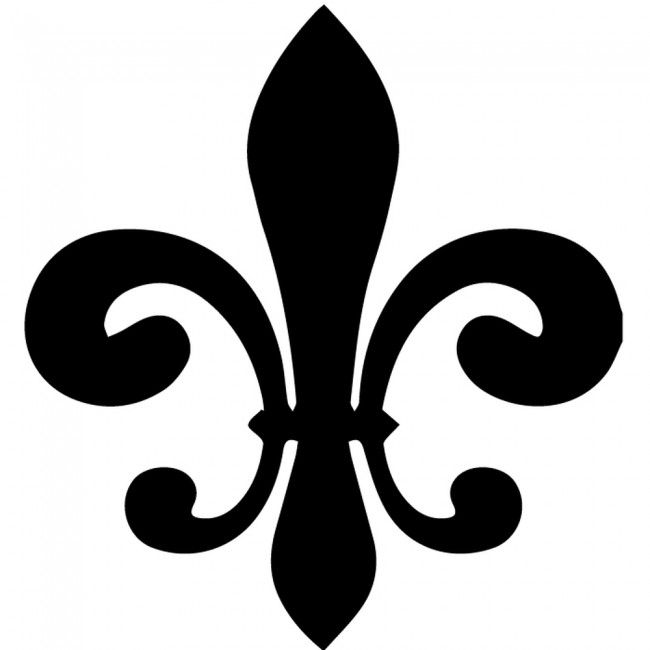 Classic Fleur De Lis Silhouette Wall Sticker Decorative