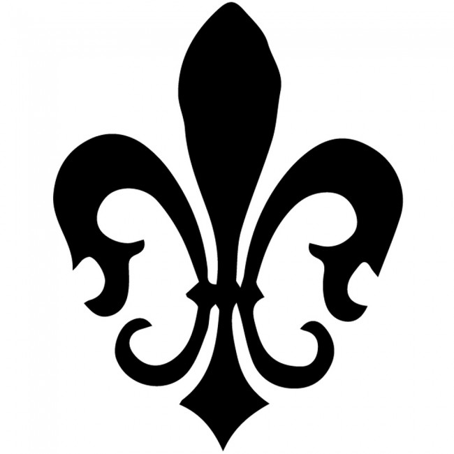 Floral Fleur De Lis Silhouette Wall Sticker Decorative