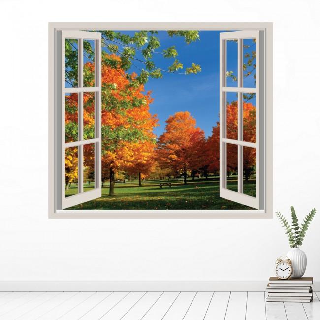Autumn Trees 3D Window Wall Sticker