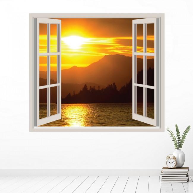 Mountain Sunset Wall Sticker Window Wall Decal
