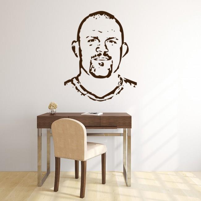 chuck liddell portrait wall sticker icon wall art. Black Bedroom Furniture Sets. Home Design Ideas