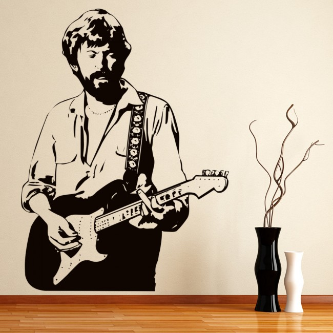 eric clapton wall sticker icon wall art. Black Bedroom Furniture Sets. Home Design Ideas