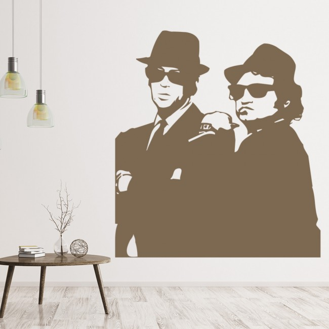 blues brothers wall sticker icon wall art. Black Bedroom Furniture Sets. Home Design Ideas