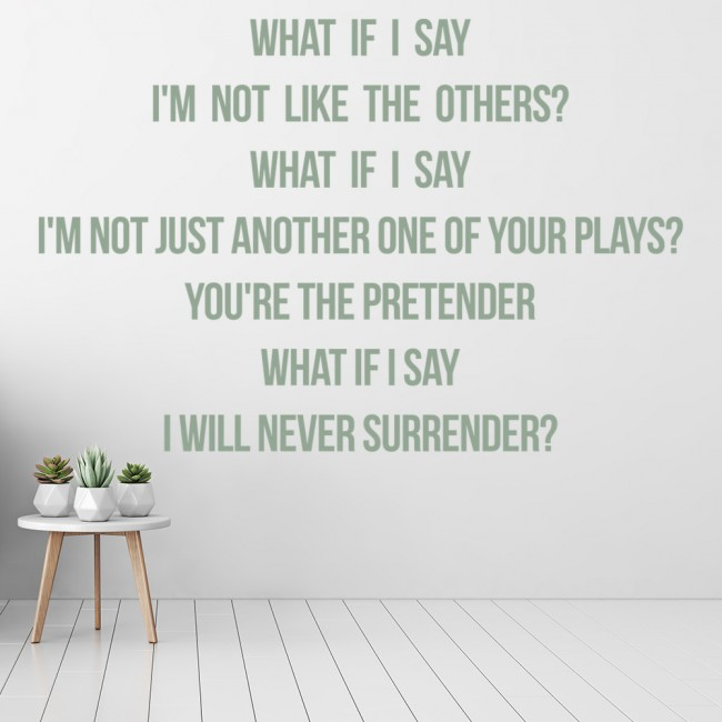 Foo Fighters Wall Sticker The Pretender Decal Music Song Lyrics Home Decor