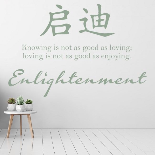 Chinese proverb wall stickers iconwallstickers enlightenment wall sticker chinese symbol quote wall decal living room decor biocorpaavc Images