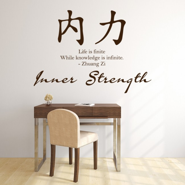 Inner Strength Chinese Proverb Wall Sticker Chinese Symbol Wall Art