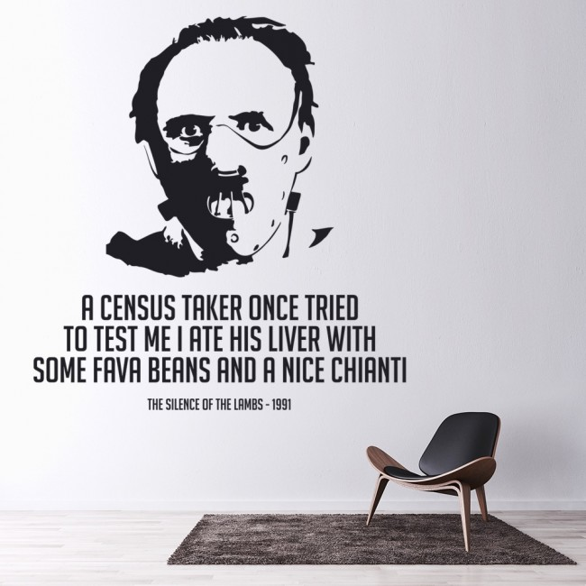 Silence Of The Lambs Wall Sticker Movie Quote Wall Decal