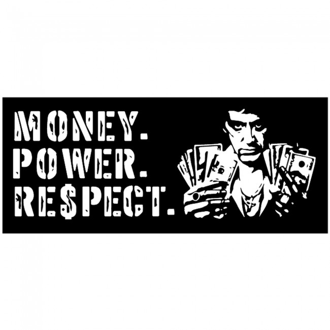 Money Power Respect Scarface Quote Wall Sticker