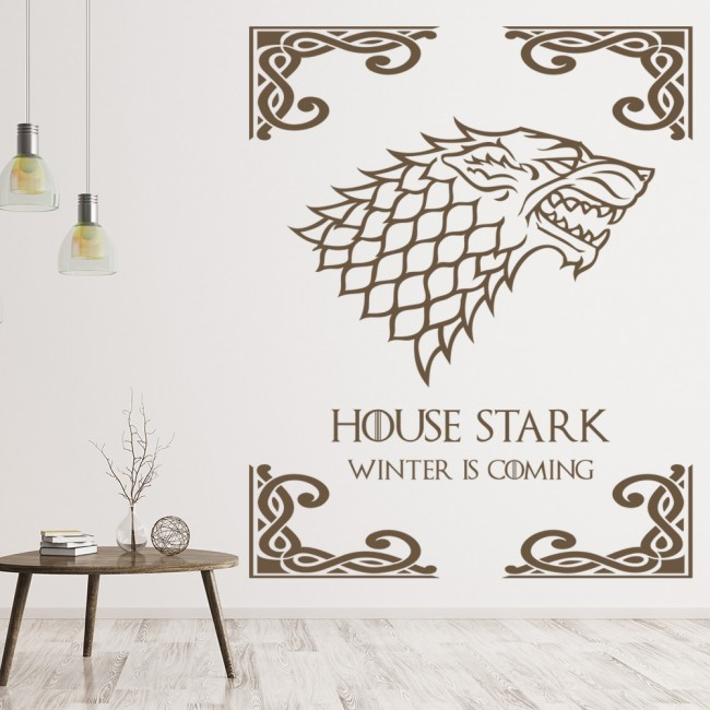 Game Of Thrones Wall Art house stark wall sticker game of thrones wall art