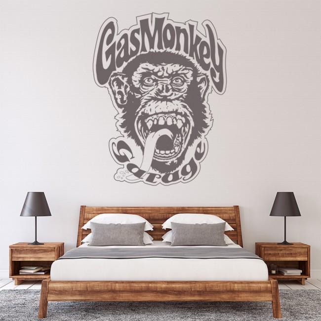 Gas Monkey Wall Sticker TV Logo Wall Decal Garage Home Decor