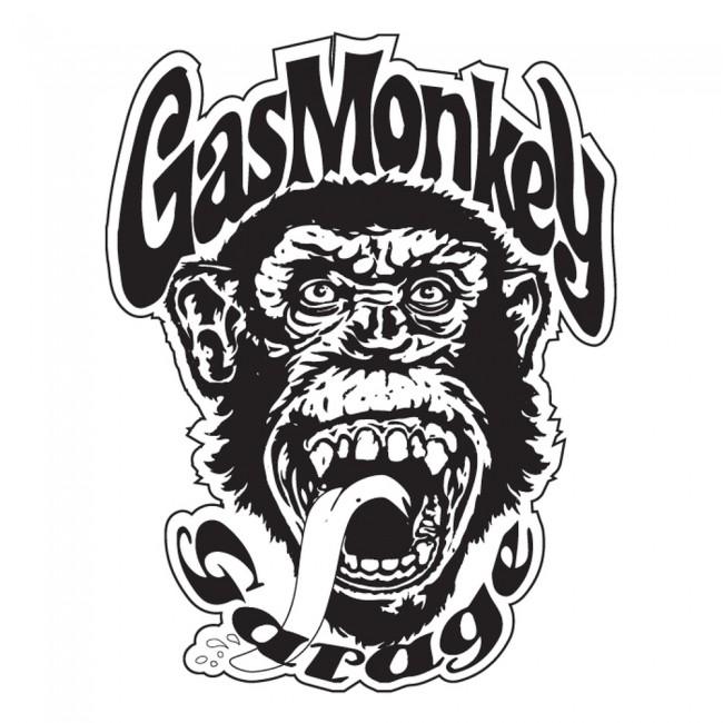Gas Monkey Wall Sticker TV Logo