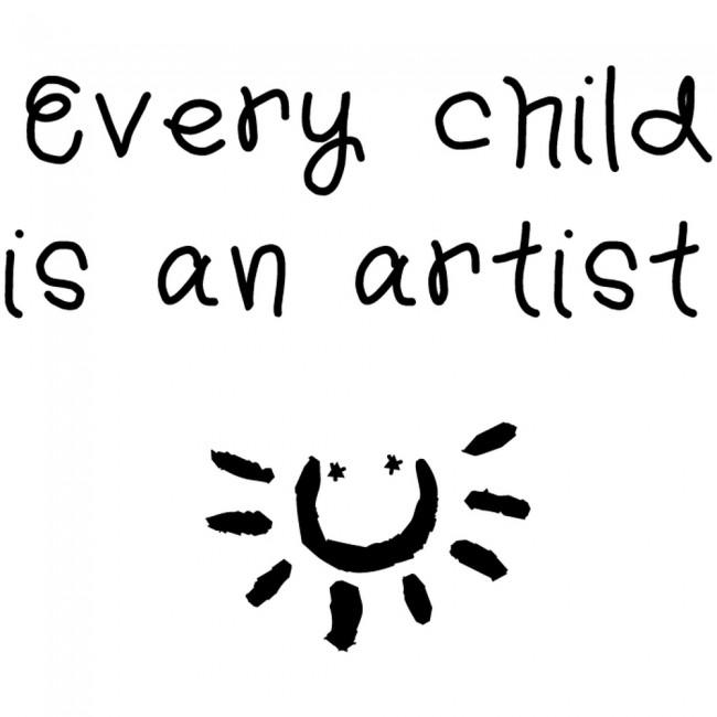 Every Child Is An Artist Wall Sticker Inspirational Quotes