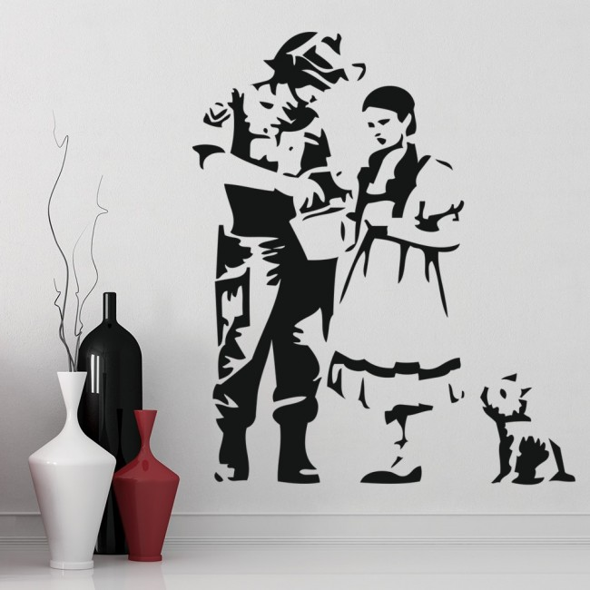 dorothy toto oz banksy wall sticker