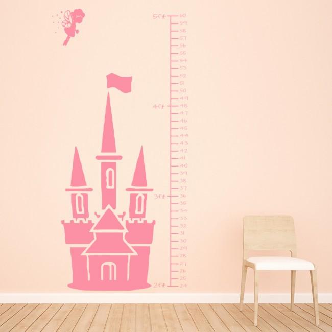 Fairy Height Chart Wall Sticker Princess Growth Chart Wall Decal