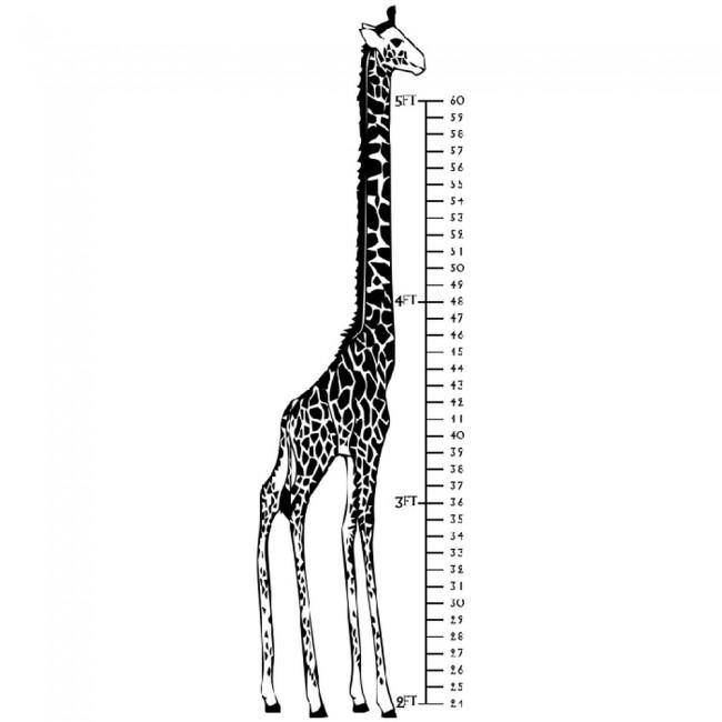 Giraffe Height Chart Wall Sticker Growth Chart Wall Decal