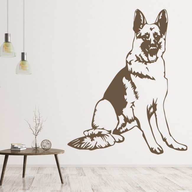 German Shepherd Dog Canine Pets Wall Sticker