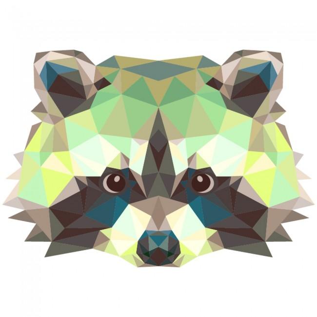 Geometric Raccoon Wall Sticker