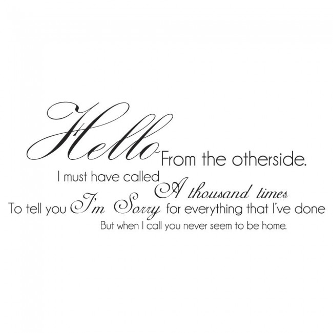 Hello from the other side adele 25 song lyrics wall stickers music ws 40787g stopboris Image collections